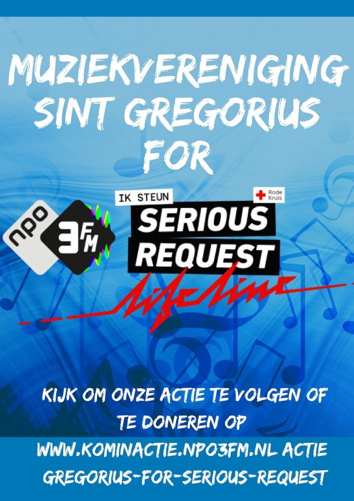 Actie jeugdleden Muziekvereniging Sint Gregorius voor 3FM Serious Request